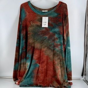 Jodifl Tie Dye Long Sleeve Tunic Size Large